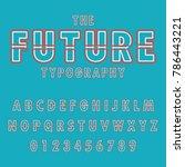 modern abstract  typographic... | Shutterstock .eps vector #786443221