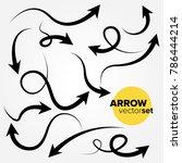 hand drawn arrow vector set   Shutterstock .eps vector #786444214