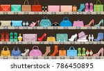fashion store. boutique of... | Shutterstock .eps vector #786450895