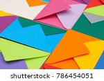 different colored envelopes on...   Shutterstock . vector #786454051