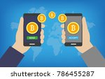 bitcoin transaction   paying... | Shutterstock .eps vector #786455287