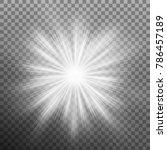 sunlight lens flare light... | Shutterstock .eps vector #786457189