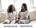 two affectionate friends afro... | Shutterstock . vector #786459334