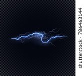 blue vector lightning flash on... | Shutterstock .eps vector #786463144