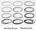 hand drawn set of objects for... | Shutterstock .eps vector #786466354