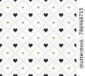 seamless pattern with black and ...   Shutterstock .eps vector #786468715