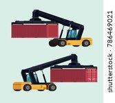 logistics import export of... | Shutterstock .eps vector #786469021