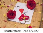 valentine day heart greeting... | Shutterstock . vector #786472627
