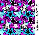 star shapes graffiti seamless... | Shutterstock .eps vector #786473935
