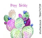 happy birthday greeting cards... | Shutterstock . vector #786474739