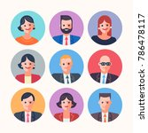 businessmen people characters... | Shutterstock .eps vector #786478117