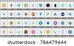 vector high market cap digital... | Shutterstock .eps vector #786479644