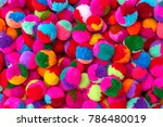colorful of knitting wool ball  ...   Shutterstock . vector #786480019