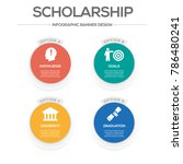 scholarship  infographic icons | Shutterstock .eps vector #786480241