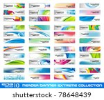 Stock vector header banner extreme collection ready to use for website or blog design 78648439