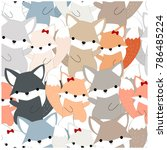 Vintage Seamless Pattern Cute...