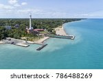 aerial view of a water plant... | Shutterstock . vector #786488269