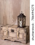 old lantern with candle...   Shutterstock . vector #786494275