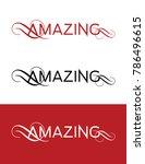 vector amazing logotype | Shutterstock .eps vector #786496615