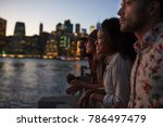 group of young friends on trip... | Shutterstock . vector #786497479