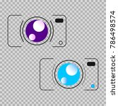 the objects are represented in... | Shutterstock .eps vector #786498574