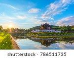 ho kham luang  royal pavilion ... | Shutterstock . vector #786511735