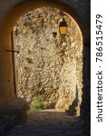 Small photo of Old wall in an corsican village