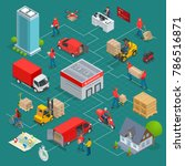isometric logistics and... | Shutterstock .eps vector #786516871