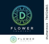 flower initial letter d logo... | Shutterstock .eps vector #786526861