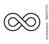 infinity symbol or sign ... | Shutterstock .eps vector #786537751