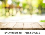 empty table for present product ... | Shutterstock . vector #786539311