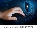 press enter button on the...   Shutterstock . vector #786539527
