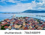 aerial view of lefkada town ... | Shutterstock . vector #786548899