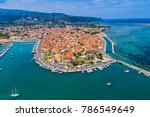sailboats in the marina and the ... | Shutterstock . vector #786549649