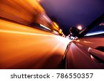 car on the road with motion... | Shutterstock . vector #786550357