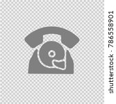 phone vector icon eps 10. retro ... | Shutterstock .eps vector #786558901