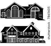 residences building vector 4 | Shutterstock .eps vector #7865605