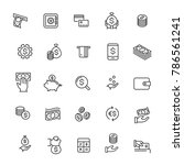 money and coin icon set .... | Shutterstock .eps vector #786561241