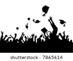 graduation party vector | Shutterstock .eps vector #7865614