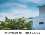 side view of panoramic balcony... | Shutterstock . vector #786562711