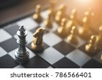 chess board game for ideas and... | Shutterstock . vector #786566401