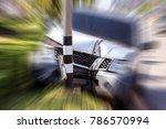 pickup truck accident hit... | Shutterstock . vector #786570994