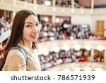a woman in the theater watches...   Shutterstock . vector #786571939