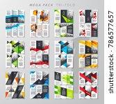 mega pack tri fold design... | Shutterstock .eps vector #786577657