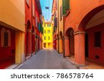 medieval street portico with... | Shutterstock . vector #786578764