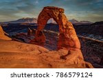 sunset at delicate arch  utah   Shutterstock . vector #786579124