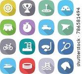 flat vector icon set   target... | Shutterstock .eps vector #786581494