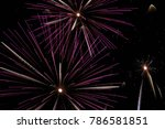 fireworks in the night sky | Shutterstock . vector #786581851