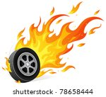 burning wheel | Shutterstock .eps vector #78658444