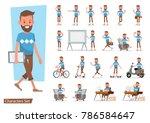 set of office man worker... | Shutterstock .eps vector #786584647